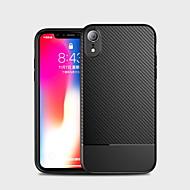 Χαμηλού Κόστους -tok Για Apple iPhone X / iPhone XS Max Ανθεκτική σε πτώσεις Πίσω Κάλυμμα Μονόχρωμο Μαλακή Ινα άνθρακα για iPhone XS / iPhone XR / iPhone XS Max