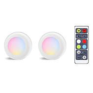 billige -2 stk 16 farger hockey lys rgb farge fjernkontroll kabinett lys pat lys ferie fest atmosfære lys
