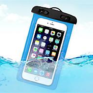 ieftine -Maska Pentru Apple Παγκόσμιο Rezistent la apă / Anti Praf / Rezistent la Apă Sacoșă Impermeabilă Transparent Moale PVC pentru Παγκόσμιο