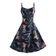 رخيصةأون -فستان نسائي A line متموج أساسي أنيق بقع طباعة فوق الركبة ألوان متناوبة