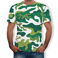 povoljno -Veličina EU / SAD Majica s rukavima Muškarci Dnevno / Dnevni Nosite 3D Okrugli izrez Djetelina / Kratkih rukava