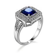 povoljno -Žene Prsten 1pc Plava Kamen / Imitacija dijamanta Geometric Shape Jedinstven dizajn / Kaubojski / Europska Dar / Dnevno / Karneval Nakit odjeće