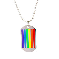 cheap -Men's Pendant Necklace Classic Joy Trendy Stainless Steel Rainbow 60 cm Necklace Jewelry 1pc For Street