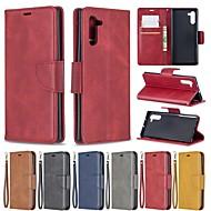 povoljno -Θήκη Za Samsung Galaxy Note 9 / Note 8 / Galaxy Note 10 Novčanik / Utor za kartice / Otporno na trešnju Korice Jednobojni PU koža
