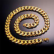 ieftine -Bărbați Lănțișoare Link cubanez Mariner Chain Modă Hip Hop Teak Auriu Negru Argintiu 55 cm Coliere Bijuterii 1 buc Pentru Cadou Zilnic
