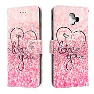cheap -Case For Samsung Galaxy J6 (2018) / J4 (2018) / Galaxy J4 Plus(2018) Wallet / Card Holder / Flip Full Body Cases Word / Phrase PU Leather For Samsung Galaxy J6 Plus/M10/M20/M30
