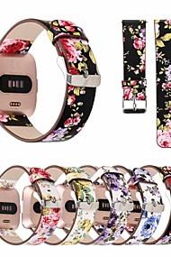 tanie -Watch Band na Fitbit Versa Fitbit Bransoletka skórzana Prawdziwa skóra Opaska na nadgarstek