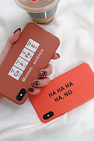 cheap -Case For Apple iPhone XR / iPhone XS Max Frosted / Pattern Back Cover Word / Phrase Hard PC for iPhone XS / iPhone XR / iPhone XS Max
