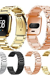 tanie -Watch Band na Fitbit Versa Fitbit Klasyczna klamra Stal nierdzewna Opaska na nadgarstek