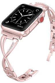 cheap -Watch Band for Apple Watch Series 4/3/2/1 Apple Jewelry Design Metal / Stainless Steel Wrist Strap