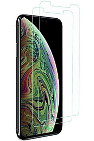 cheap -Screen Protector for Apple iPhone XS / iPhone XR / iPhone XS Max Tempered Glass 2 pcs Front Screen Protector High Definition (HD) / 9H Hardness / 2.5D Curved edge