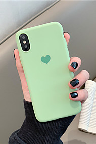 cheap -Case For Apple iPhone X / iPhone XS Max Pattern Back Cover Solid Colored / Heart Soft TPU for iPhone XS / iPhone XR / iPhone XS Max