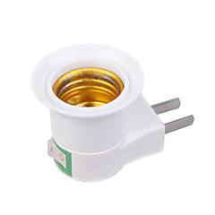 Χαμηλού Κόστους Αξεσουάρ LED-Βύσμα ΗΠΑ σε E27 E27 Φωτεινή πρίζα Πλαστική ύλη