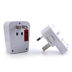 1 x adaptador de viaje mundial con USB puerto de carga / protección contra sobretensiones