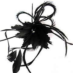 Kobiety Pióro Winieta-Ślub Piękny Przypadkowy Na wolnym powietrzu Fascinators Kwiaty