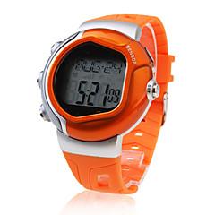 Męskie Sportowy Cyfrowe LCD Pulsometr Kalendarz Chronograf alarm Guma Pasmo Pomarańczowy Orange