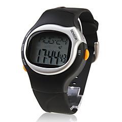 Αντρικά Ρολόι Καρπού Ψηφιακό LCD Ημερολόγιο Χρονογράφος συναγερμού Συσκευή Παρακολούθησης Καρδιακού Παλμού καουτσούκ Μπάντα Μαύρο Μαύρο