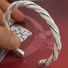 preiswerte Armbänder-Damen - Sterling Silber Breiter Armreif Armbänder Silber Für Hochzeit Party Besondere Anlässe