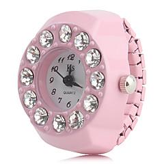 preiswerte Tolle Angebote auf Uhren-Damen Ringuhr Japanisch Imitation Diamant Plastic Band Charme / Modisch Schwarz / Weiß / Rosa