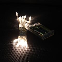 お買い得  LED ストリングライト-3M ストリングライト 30 LED Dip LED 温白色 カット可能 / パーティー / 装飾用 単3乾電池 1個 / # / IP44