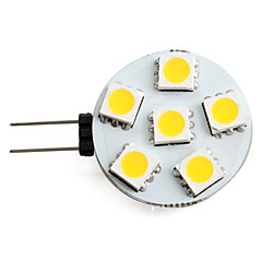 1.5w g4 led spotlight 6 smd 5050 150lm blanc chaud 2700k dc 12v