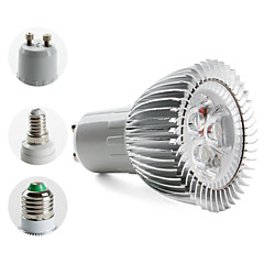 E14 GU10 E26/E27 LED Spotlight MR16 3 High Power LED 270lm Warm White 3000K AC 85-265V