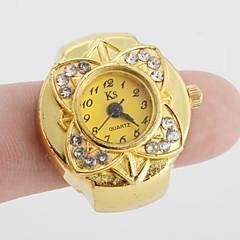 preiswerte Damenuhren-Damen Ringuhr Japanisch Quartz Armbanduhren für den Alltag Legierung Band Blume Retro Gold - Gold Ein Jahr Batterielebensdauer / SSUO SR626SW