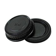 Pentax trasera de la tapa y la tapa del cuerpo de la cámara del filtro del objetivo que nos