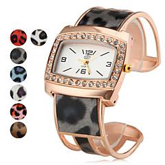 お買い得  レオパードパターン 腕時計-女性用 ファッションウォッチ ブレスレットウォッチ クォーツ 合金 バンド 光沢タイプ つや消しブラック Elegant ブラック 白 ブルー レッド ゴールド ピンク パープル