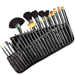 32pcs Brush Sets Kwast van ponyhaar / Synthetisch haar / Kwast van geitenhaar / Paard Gezicht / Lip / Oog