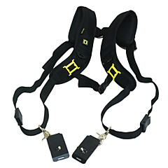 저렴한 -Quick Release Double shoulder Camera Neck Strap for 2 Digital SLR Camera