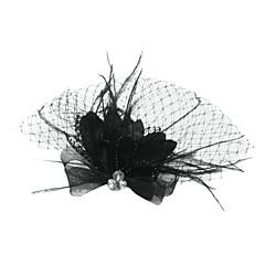 abordables Bijoux pour Femme-Tulle / Cristal / Plume Diadèmes / Voiles Birdcage avec 1 Mariage / Occasion spéciale / Fête / Soirée Casque / Tissu