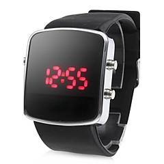 お買い得  大特価腕時計-男性 リストウォッチ LED カレンダー デジタル シリコーン バンド ブラック