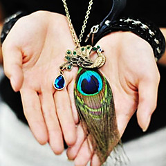 preiswerte Halsketten-Damen Synthetischer Saphir Anhängerketten / Anhänger  -  Freizeit, Modisch Bronze Modische Halsketten Für Alltag
