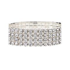 cheap Tennis Bracelets-Women's Tennis Bracelet - Crystal, Imitation Diamond Luxury Bracelet Silver For Party