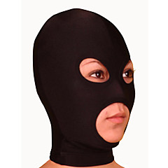 Mask Ninja Zentai Cosplay Costumes Black Solid Mask Lycra Unisex Halloween