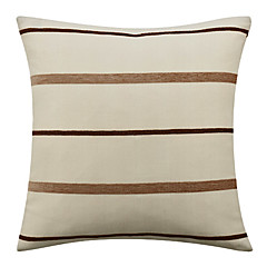 Modern Jacquard Striped Polyester Decorative Pillow Cover