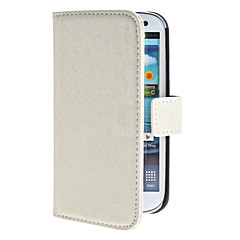olcso Galaxy S3 tokok-Case Kompatibilitás Samsung Galaxy Samsung Galaxy tok Kártyatartó Állvánnyal Flip Héjtok Tömör szín PU bőr mert S3