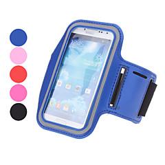 For Med vindue Armbånd Etui Armbånd Etui Helfarve Blødt Tekstil for Universal S4