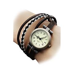 preiswerte Tolle Angebote auf Uhren-Damen Armband-Uhr Armbanduhr Japanisch Quartz Armbanduhren für den Alltag Echtes Leder Band damas Böhmische Modisch Mehrfarbig - Schwarz Braun Ein Jahr Batterielebensdauer / SSUO SR626SW