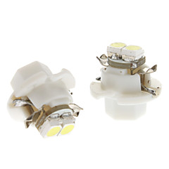 B8.4 0.5W 2x3528SMD White Light Bulb Lamp Instrumento para carro (DC 12V, 1-Pair) LED