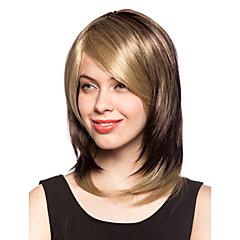 kapaksız kısa hafif sarışın sentetik saç peruk
