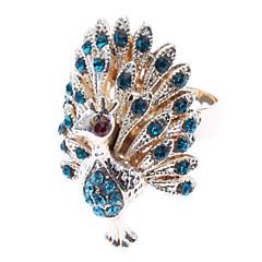 preiswerte Ringe-Damen Statement-Ring - Diamantimitate, Aleación Pfau damas, Luxus 8 Blau / Golden Für Alltag