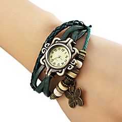 abordables Relojes Brazalete-Mujer Reloj Pulsera Reloj Casual PU Banda Mariposa / Bohemio / Moda Negro / Azul / Marrón / Un año / Jinli 377