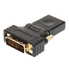 Недорогие DVI-DVI 24 +1 до HDMI V1.3 мужчин и женщин адаптер Черный Позолоченные 360 градусов Вращение