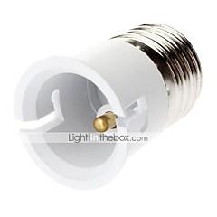billige LED-tilbehør-Plast B22 E27 til B22 Belysning tilbehør Adapter