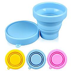 abordables Tazas y vasos-silicón del color del caramelo de la taza plegable 170ml (color al azar)