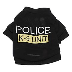 Hund T-shirt Hundetøj Politi/Militær Bogstav & Nummer Kostume For kæledyr