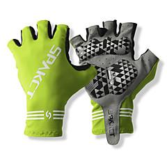 SPAKCT S13G03 Wytrzymały poliester i winylal Materiały Half Finger Gloves Projektowana Rowerem Bicycle-zielonej