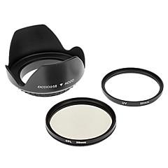 Insten UV + CPL 58ミリメートルCANON S3IS用+レンズフードS5 G7 G9 G10 S2 IS